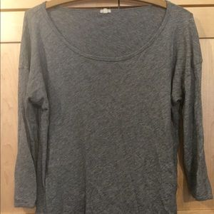 J. Crew Vintage Cotton 3/4 length t-shirt
